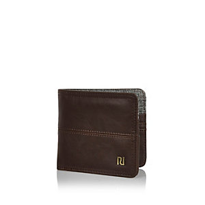 Dark brown fold over wallet