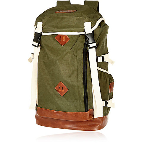 Khaki utility backpack