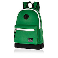 Green neoprene backpack