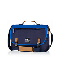 Navy two-tone messenger bag