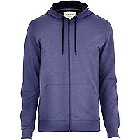 Light purple zip through hoodie