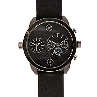 Black extra large watch
