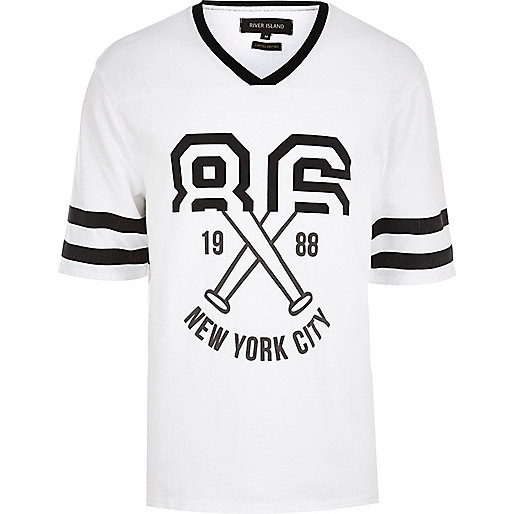 Ecru 86 New York spliced baseball t-shirt