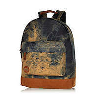 Blue MiPac tie dye denim backpack