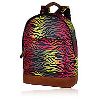 Green MiPac zebra print backpack