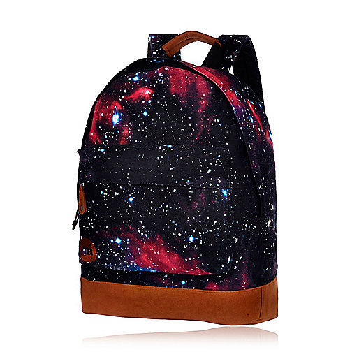 Black cosmic print MiPac backpack