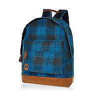 Blue plaid MiPac rucksack