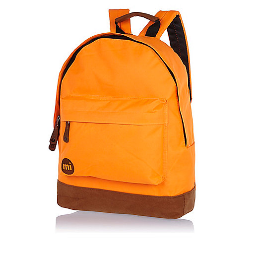 Orange MiPac contrast base backpack