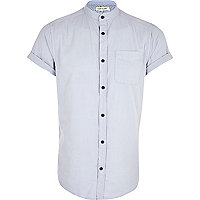 Light blue grandad collar shirt