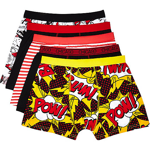 Mixed comic print boxer shorts pack