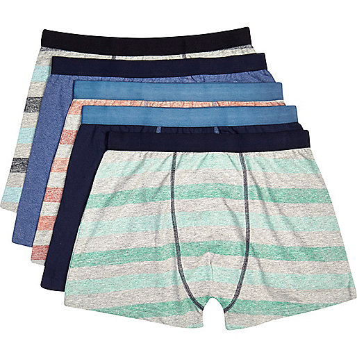 Mixed striped marl boxer shorts pack
