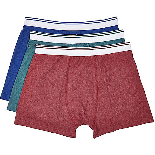 Mixed tipped trim boxer shorts pack
