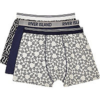 Navy RI logo boxer shorts pack
