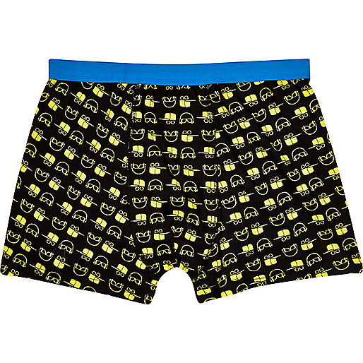 Black headphone print boxer shorts
