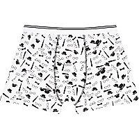 White tie and glasses print boxer shorts