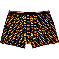 Black moustache print boxer shorts