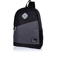 Black single strap slanted pocket backpack