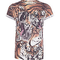 White tigers print t-shirt