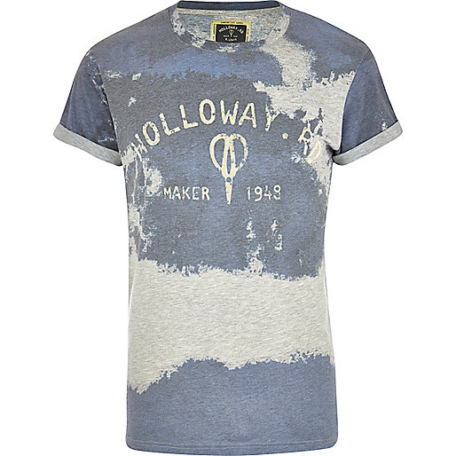 Blue Holloway Road sublimation print t-shirt
