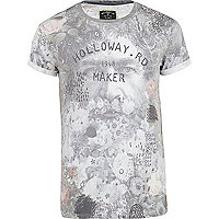 Grey Holloway Road sublimation face t-shirt