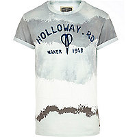 White Holloway Road blurred stripe t-shirt