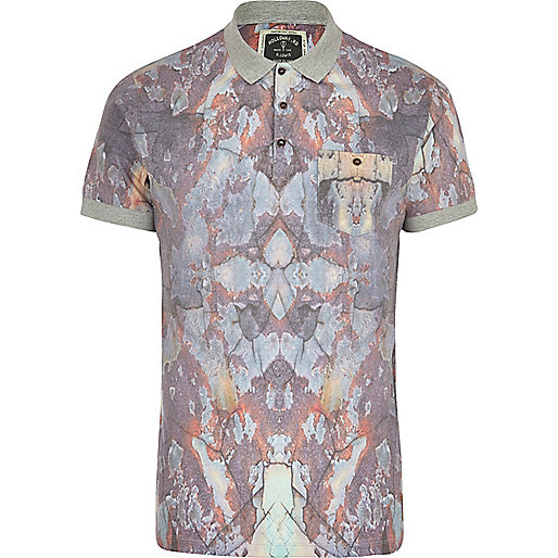 Grey Holloway Road sublimation polo shirt