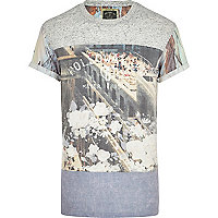 Grey Holloway Road colour block print t-shirt