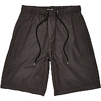 Black long sporty shorts