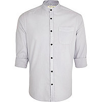 Light grey grandad collar shirt