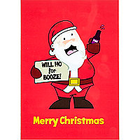 Will ho for booze Christmas card
