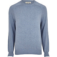 Light blue raglan sleeve jumper