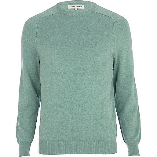 Light green raglan sleeve jumper