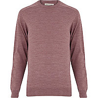 Pale red raglan sleeve jumper