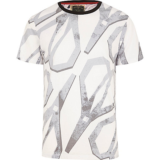 White Holloway Road scissor print t-shirt