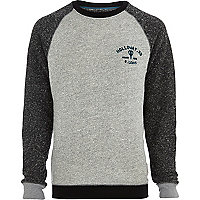 Grey Holloway Road contrast sleeve sweatshirt