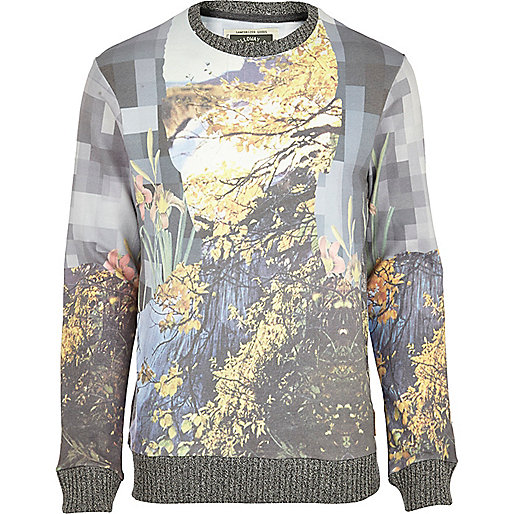 Grey Holloway Road pixel print sweatshirt
