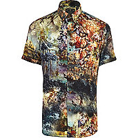 Blue Holloway Road scenic print shirt