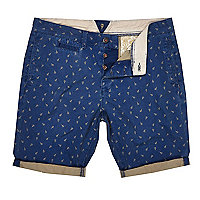 Blue Holloway Road scissor print shorts