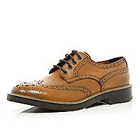 Brown Holloway Road chunky sole brogues
