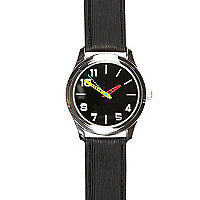 Black neon detail watch