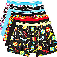 Mixed sweets print boxer shorts pack