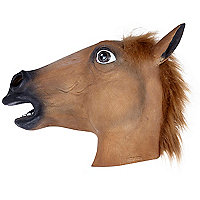 Horse head rubber mask