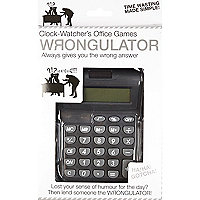 Novelty wrongulator