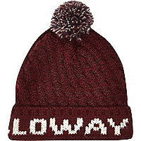 Dark red Holloway Road beanie hat
