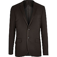 Black contrast trim tux jacket