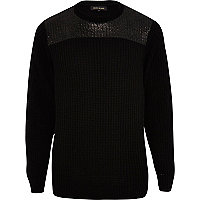 Black foil yoke jumper