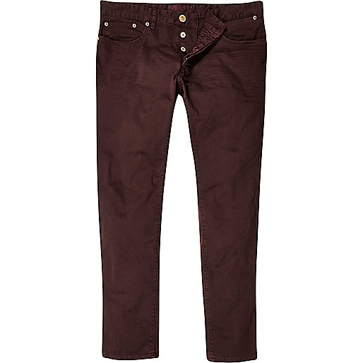 Dark red skinny jeans