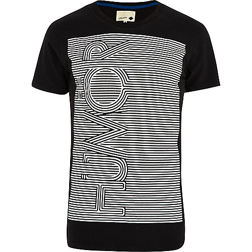 Black Humor stripe print t-shirt