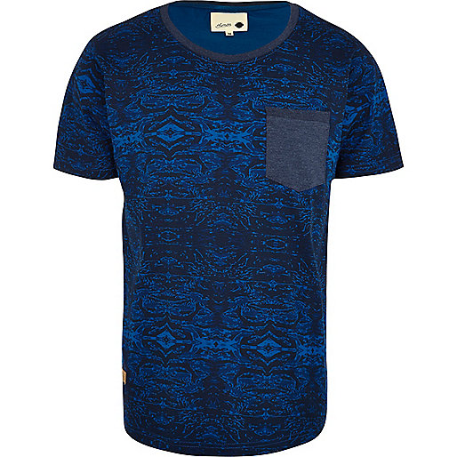 Blue Humor abstract print t-shirt