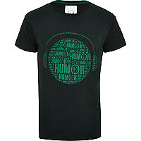 Green Humor headphone print t-shirt